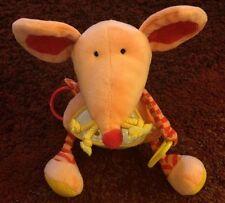 """Jelly Kitten Plush Mouse Rattle 9"""""""