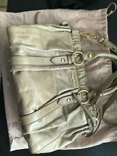 Authentic Pre-owned MiuMiu Calfskin Handbang, Light Brown/Nude, Gold