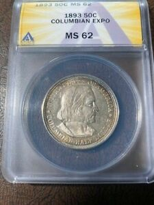 US Columbian Half - 1893 ANACS MS 62