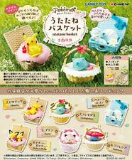 New Re-ment Pokemon nap utatane basket complete 6 type set from Japan