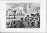 1874 - Antique Print TICHBORNE Trial Judges Sentence Court Wigs Men   (146)