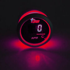 "2"" 52mm Black Car Truck Digital Red LED Tacho Tachometer LED Gauge Kit"