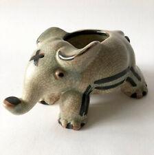 Walter Bosse for Karlsruher Majolika Ceramic Elephant Planter