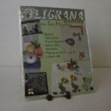 Filigrana Quilling Con los Mejores Bilingual Ed Spanish English Color Photos NEW