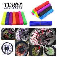 72x Wheel Spoke Skin Cover Wrap Kit for Motorcycle Motocross Dirt Bike Colors