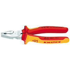 Knipex 200mm High Leverage Combination Pliers 1000V VDE Insulated 02 06 200