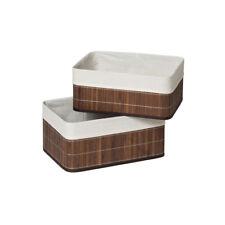 Premier Housewares Kankyo Set of 2 Storage Boxes, Dark Brown Liner