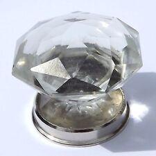 Cristal Grande En Cristal Tallado Tiradores Perillas Cromo Base Armario y armarios