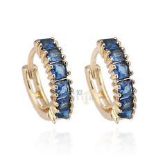 Charm 18K Gold Plated Jewelry Fashion Women Crystal Hoop Earrings Ear Studs