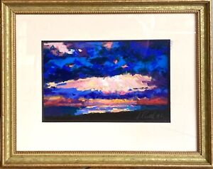2006 Abstract Impressionist Pastel New Orleans Listed Artist Joachim Cassell