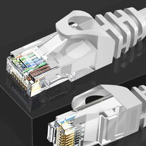 Câble de raccordement LAN à grande vitesse de réseau Ethernet T6 RJ45 10M à 25M