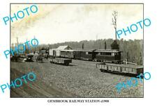 LARGE PHOTO OF OLD GEMBROOK RAILWAY STATION, VIC c1900