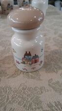 International Heartland Village Buildings Farmers Animals Beige Spice Jar