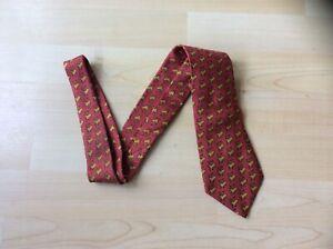 Vintage Hermes Paris Maroon Reindeer Pattern Silk Neck Tie - 800 MA