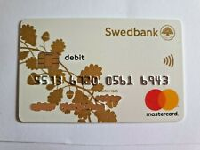 Swedbank Debit Plastic Maestro Cards For Collectors NZ888