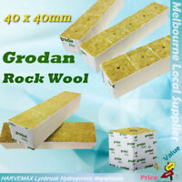 [10x] Grodan Rockwool Blocks Hydroponics Grow Media Cutting Seedling 40x40mm