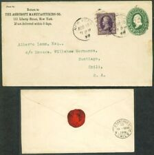 NY to CHILE 1898 Upr Cover from STEAM ENGINE PRESSURE GAUGE Co ASHCROFT MFG !!