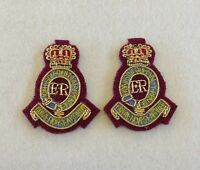 Royal Horse Artillery Collar Badges, 7 RHA Para Officers Embroidered, Mess Dress