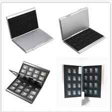 Aluminum Memory Card Storage Case Box holders Sliver for 24pcs micro SD TF Card