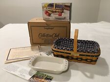 longaberger collectors club miniature J W Collection 2000-2001 Gathering Basket