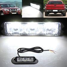 White 3-LED Waterproof Warning Hazard Emergency Beacon Flash Strobe Light Bar zn