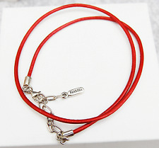 Genuine Pandora Leather Necklace (Bracelet) red 45cm 590397RD-45 - retired
