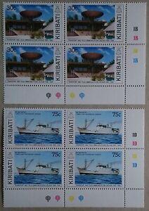 Kiribati 1989 Transport Ships & Telecoms set 2 Plate Blocks 4 SG314/5 Ex My Coln