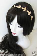 Gold Leaf Grecian Headband Vintage Olive Leaves Boho Woodland Bridal Crown L25