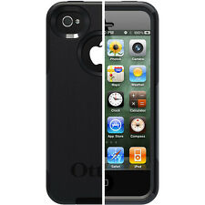 Genuine OtterBox Commuter Series Black Hard Case Cover for Apple iPhone 4 4s