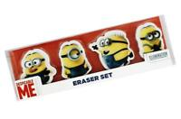 4 x Official Licenced MINIONS Erasers Rubber Party Bag Fillers Party Bags