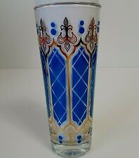 Gold and Blue Highball Drinking Glass
