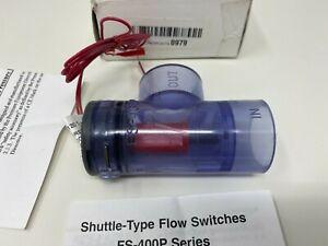 "Gems Sensors FS-400PC Series PVC 1"" Flow Switch, 2 gpm Flow Setting, 135815"
