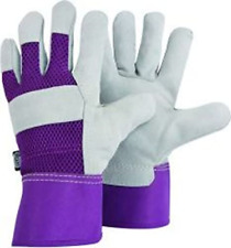 Briers Lined Hide Gloves, White, Medium