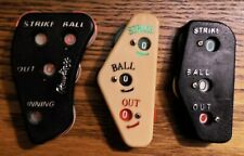 3 Ball & Strike Counters/Indicators - Used, Cleaned, Good Working Order REDUCED!