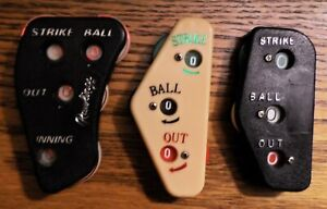 3 Ball & Strike Counters/Indicators - Used, Cleaned, Good Working Order