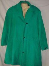 Women's Green Leather Coat Size 12