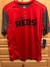 Boys Youth X-Large Cincinnati Reds Tee Shirt Red/Gray