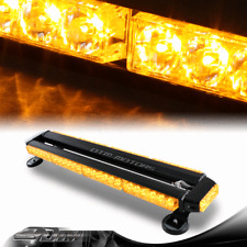 "54 LED Amber 26.5"" Work Emergency Warning Warn Flash Four Side Strobe Light"
