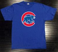 Chicago Cubs T-Shirt Bear Graphic Chi Cotton Men Adult Logo Jersey