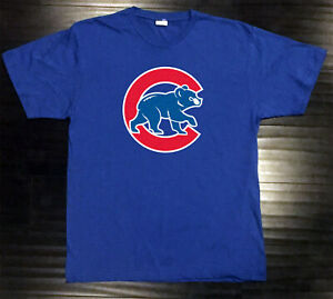 Chicago Cubs T-Shirt Bear Graphic Chi Cotton Men Adult Logo Jersey