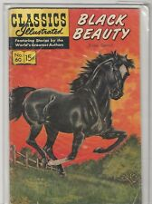 Classics Illustrated Black Beauty #60 (June 1949 Comic) HRN #158 VG/FN