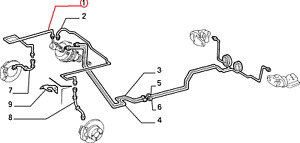OEM FIAT Punto 1993-2000 Front O/side Right Brake Rigid Pipe from Servo 71737707
