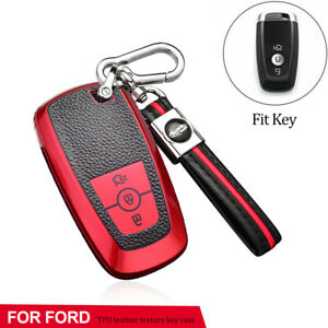TPU Remote Key Case Cover Holder Fob For Ford Mondeo Mustang Escape EcoSport Red
