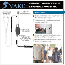 Quick Release Covert SNAKE Ipod-Style Earpiece for ICOM F Series (See List)
