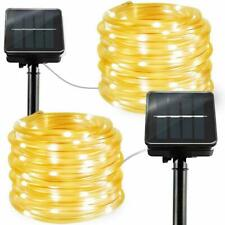 2 Pack 8 Modes 100 LED Copper Wire Fairy Lights for Garden Fence Yard Warm White