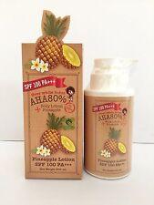 Pineapple Loción AHA 80% SPF 100 PA +++, aligeramiento de la piel, piel blanco, blanco crema