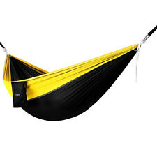 Yes4All Double Camping Hammock With Strap & Carry Bag Nylon (Black/Yellow)