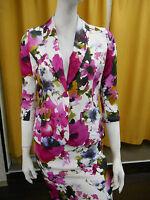 Veste Femme Blazer Floral Élégante Cérémonie Fête Mariage Amy Gee Aj7379
