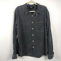 Vintage Ralph Lauren Polka Dot Long Sleeve Shirt Black Mens 2XL