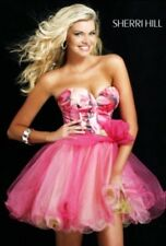 Sherri Hill Pink Prom Formal Dress 2216 Sz US4 AU8 Silk Rose Dollhouse RRP $650